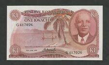 MALAWI  1 kwacha  1974  P10b  Uncirculated  World Paper Money