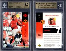 BGS 9.5 2003 Upper Deck Manchester United #13 Cristiano Ronaldo RC POP9 G00 1144