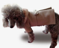 Dog coat jacket with faux fur collar, wool, stylish x small to x large dogs NEW