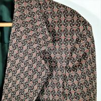 L Vintage 60s 70s Sears Disco Knit LEISURE JACKET Blazer Coat Psychedelic Mod 42