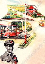 Gasolin gasolinera póster cartel imagen son impresiones artísticas escudo publicidad publicitarias affiche