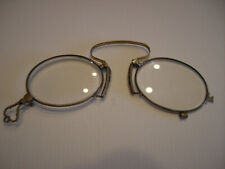 14K Gold Antique Pinch Nose Eyeglasses- AlaskaP