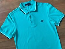 Mens CLASSIC Sea Green FRED PERRY POLO SHIRT (S) *MINT COND*