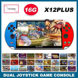 "X12 Plus 7"" Video Game Console 16GB Retro Handheld Portable 10000 Built-in Games"