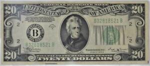 1934-B $20 Federal Reserve Note; Fr.-2056-B; XF