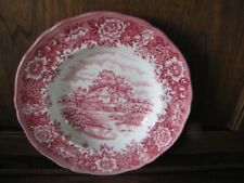 Red Alfred Meakin Pottery