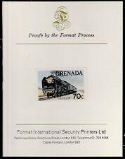 Granada (1598) - 1982 famoso trenes Imperf sobre formato tarjeta de prueba internacional