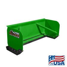 8 Green Skid Steer Snow Pusher Boxbobcatkubotaquick Attachfree Shipping