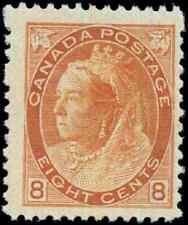Canada #82 mint F-VF OG VLH 1898 Queen Victoria 8c orange Numeral CV$400.00