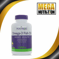 Natrol Omega-3 Fish Oil Natural Lemon Flavor 1000 mg 150 Softgels | Heart Health