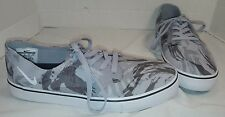 NEW MEN'S NIKE SB BRAATA LR NF WOLF GREY & WHITE CANVAS SKATE SNEAKER SIZE US 10