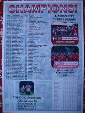 Lincoln City League Two champions 2019 - souvenir print