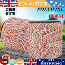 1000m Roll Polywire for Electric Fence Fencing Rope Stainless Steel Poly Wire