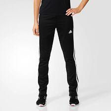 adidas Ladies T16 3 Stripe Sweat Pants Womens Sports Climalite Tracksuit Bottoms Black L