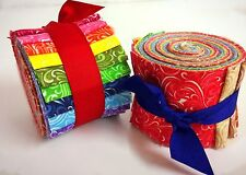 2.5 inch Yummy Twist Jelly Roll 100% cotton fabric quilting strips