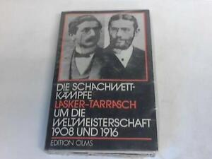Die Schachwettkämpfe Lasker - Tarrasch um die Weltmeisterschaft 1908 und 1916. V