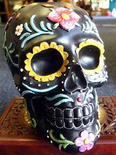 Day of the dead Sugar skull Candela Tea Light Holder Messicano Horror Gotico Pagano