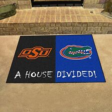Florida Gators - Oklahoma State Cowboys House Divided All Star Area Rug Mat