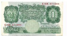 Obrien una libra Nota 1955. Hermosa Nota crujiente.