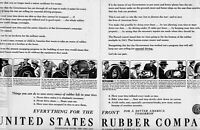 1943 2 PAGE ORIGINAL VINTAGE UNITED STATES RUBBER COMPANY MAGAZINE AD