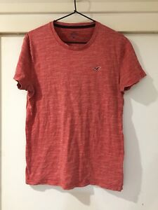 Hollister Mens Red Basic T Shirt Size S Good Condition