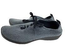 A'RCOPEDICO Women's MONACO Gray Stretch Knit Shoes Sneakers Comfort Size 39 / 8