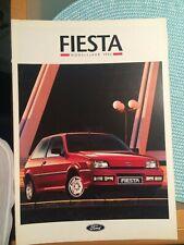 Ford Fiesta XR2i Prospekt / Broschüre 1992