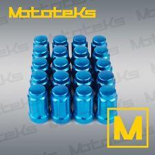 20 Pcs Blue Tapered Seat Lug Nuts Tuner Spline 12x1.5 Honda Mazda + Lock Socket