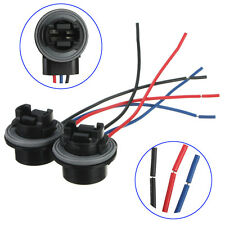 2x 3157 3057 3156 3155 LED Bulb Brake Signal Light Socket Harness Wire Adapter