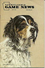Pennsylvania Game News July 1991 cover by Rod Arbogast English Setter