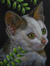 ACEO Cat kitten animal print of painting