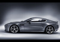 "ASTON MARTIN V12 VANTAGE SIDE NEW A4 CANVAS GICLEE ART PRINT POSTER 11.7"" x 8.3"""