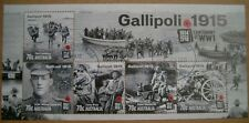 Australia 2015 Gallipoli 1915 Centenary of WWI Mini-sheet Cancelled Original gum