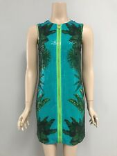 VERSACE For H&M Palm Print Sequinned Dress 36 Aus 8