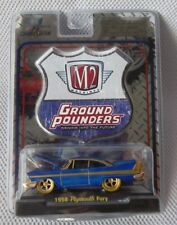 1958 PLYMOUTH FURY M2 Machines 2010 SUPER CHASE (Blue) Ground Pounders Release 3