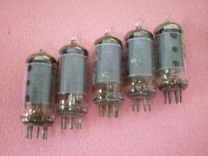 Lot of 5x GE Ham Radio Electron Vacuum Tube 6136 / 6AU6WA Universal 6.3V 0.3A