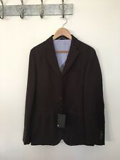 NWT MASSIMO DUTTI BROWN TEXTURED MENS BLAZER JACKET UK 42 EU 52 RRP195€ MD99