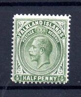 Falkland Islands KGV 1/2d green mint LHM Perf 14 SG60A WS21341