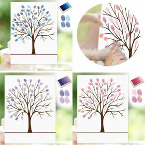 Fingerprint Craft Painting Inkpad Trees Signature Home Decor Art Creative Wall