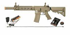 Lancer Tactical Tan M4 Gen 2 AEG Electric Airsoft Rifle Gun + Battery Charger