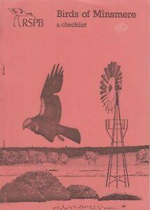 Birds of Minsmere Reserve Suffolk: A Checklist - RSPB Michael Trubridge Booklet