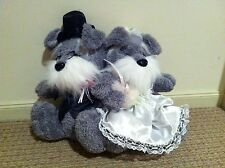 Wedding Schnauzer Couple 40cm