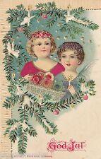 Kinder schöne Weihnachts-Präge-AK um 1900 Weihnachten Christmas God Jul 1611119