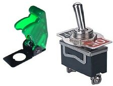 1 PC SPST SAFETY TOGGLE SW 20AMPS@125VAC TRANSLUCENT GREEN COVER  #ST15/66-5020