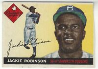1955 TOPPS JACKIE ROBINSON BROOKLYN DODGERS # 50