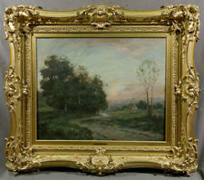 American Painting Landscape Moonlight Summer Magnificent Gold Frame