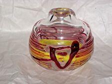 "Czechoslovakian Jiri Suhajek for Moser / Karlovarske Sklo Art Glass 5"""