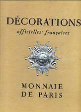 Décorations officielles francaises Monnaie de Paris 1956