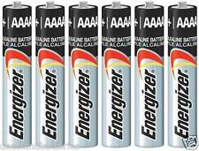 Energizer AAAA Alkaline Batteries E96 Exp 12/2020 6 Pcs