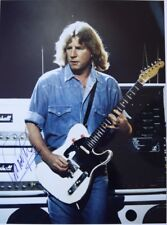 Original hand signed mounted photo of Rick Parfitt 10.75 x 8 in by Mel Longhurst